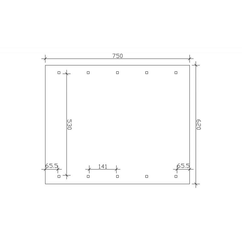 carport trieste avec remise 404 x 846 direct abris. Black Bedroom Furniture Sets. Home Design Ideas