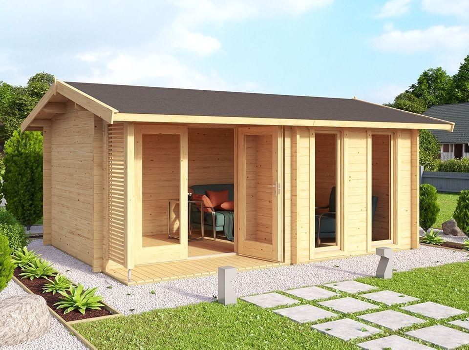 abri de jardin schongau avec appenti 430 x 275 28mm direct abris. Black Bedroom Furniture Sets. Home Design Ideas