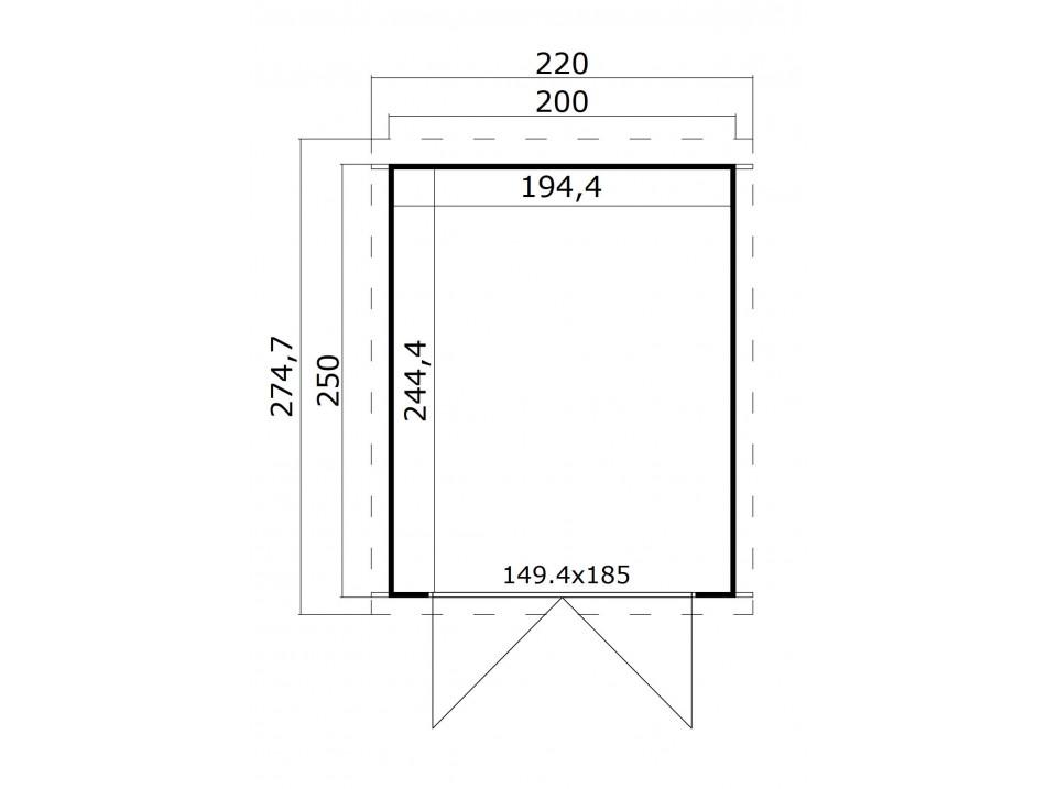 Abri de jardin linda 6 21 mm direct abris for Reglementation abris de jardin