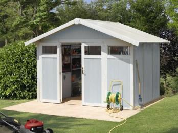 Abri de jardin en PVC et resine