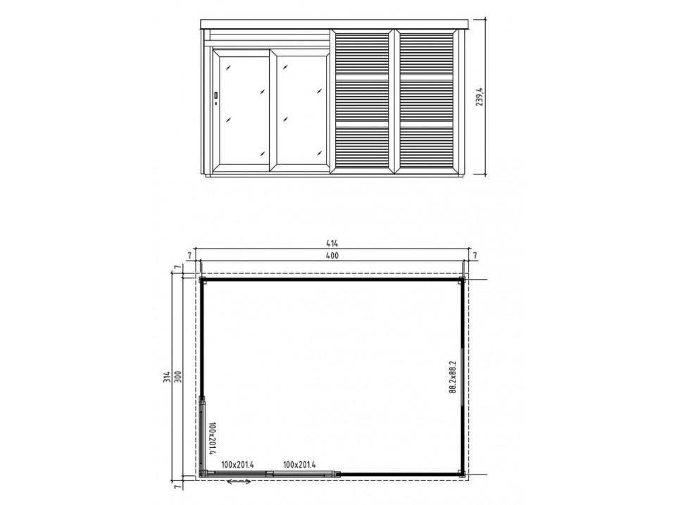 Carport Optima 322 x 512 - traite autoclave, Carport - Direct-abris