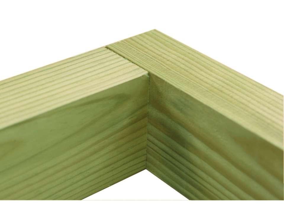Pergola MALAGA en bois 434 x 250 - 3 poteaux - Direct Abris