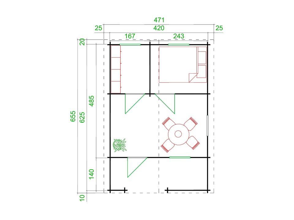 coffre de jardin 180 x 70 19 mm direct abris. Black Bedroom Furniture Sets. Home Design Ideas