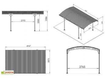 Abri de jardin OSLO 9 - 28mm, abri-de-jardin-en-bois - Direct-abris