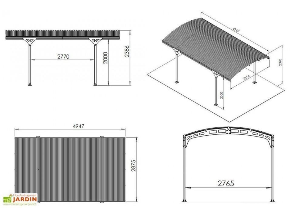 Abri de jardin OSLO 9 - 28mm, Abri de jardin en bois - Direct-abris