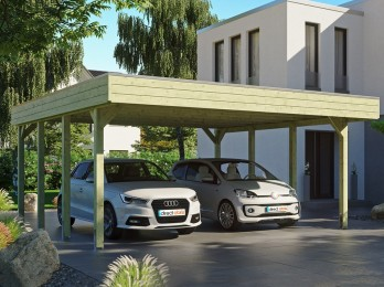 Carport en bois FRIESLAND -...