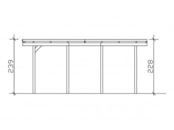 Chalet en bois PRETORIA 31 - 70mm, chalet-de-jardin - Direct-abris