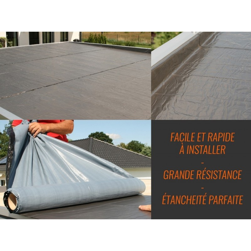 Membrane adhesive d etancheité toiture 5x1m
