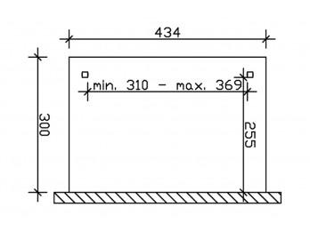 Store tissu pergola 434x300 (4 pces)