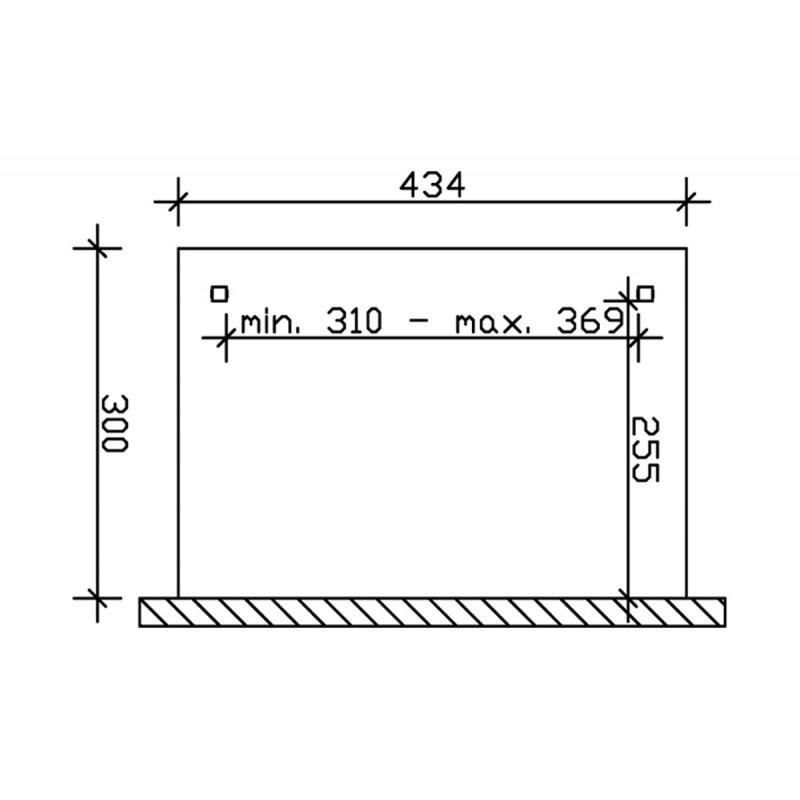 Store tissu pergola 434x300 (4 pces), accessoires-pergolas - Direct-abris