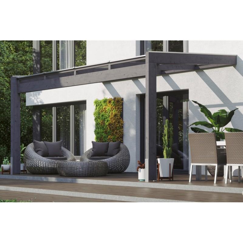 Abri de jardin Quinta 3 - 21 mm - gris, abri-de-jardin-bois-en-couleur - Direct-abris