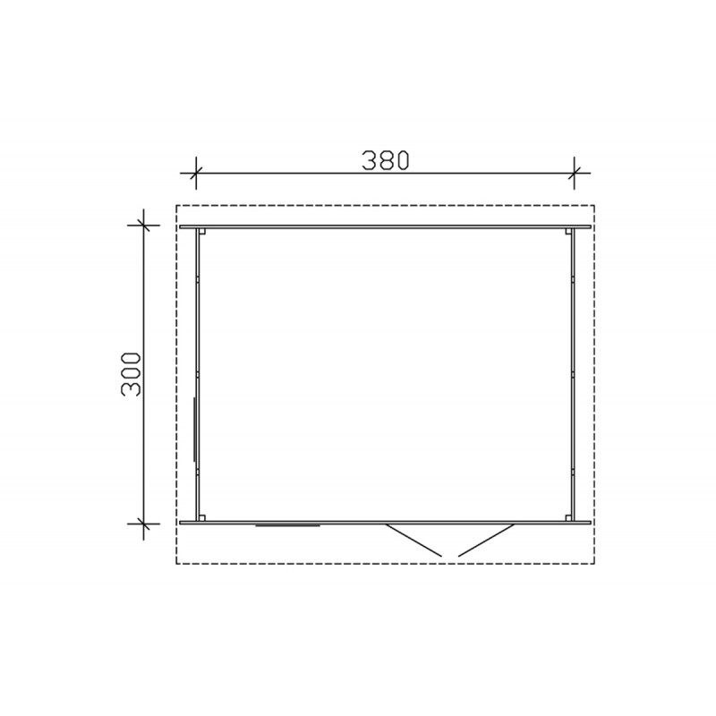 Feutre geotextile 100gr/m2 (rouleau de 20m2), plancher-terrasse - Direct-abris