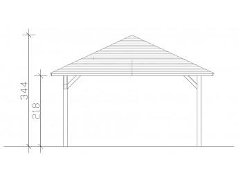 Chalet NIVALA 31 - 70 mm, maison-de-jardin - Direct-abris