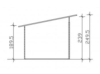 Carport bois CASTELLANE - 373 x 707