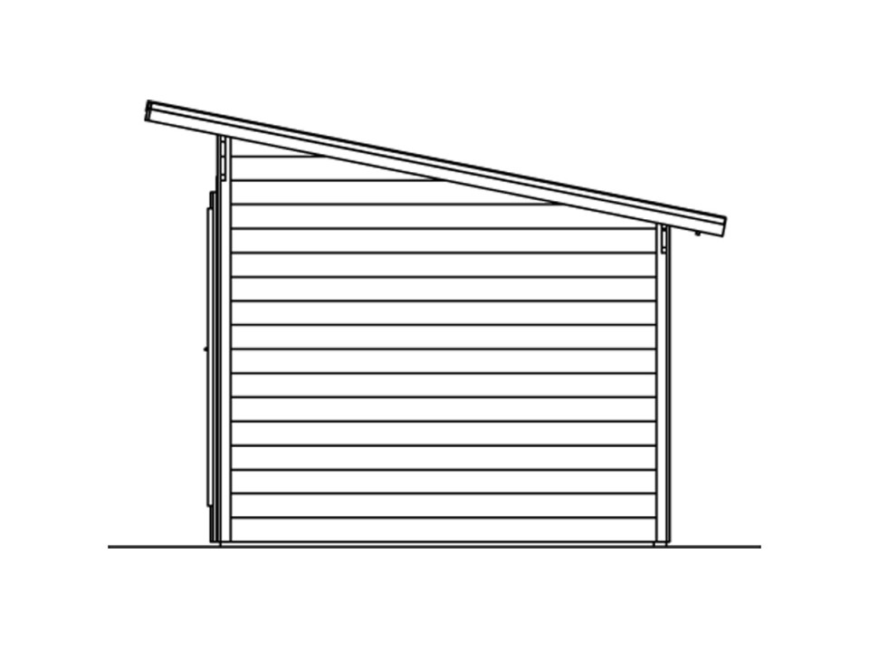 Carport bois CASTELLANE - 373 x 860, Carport - Direct-abris
