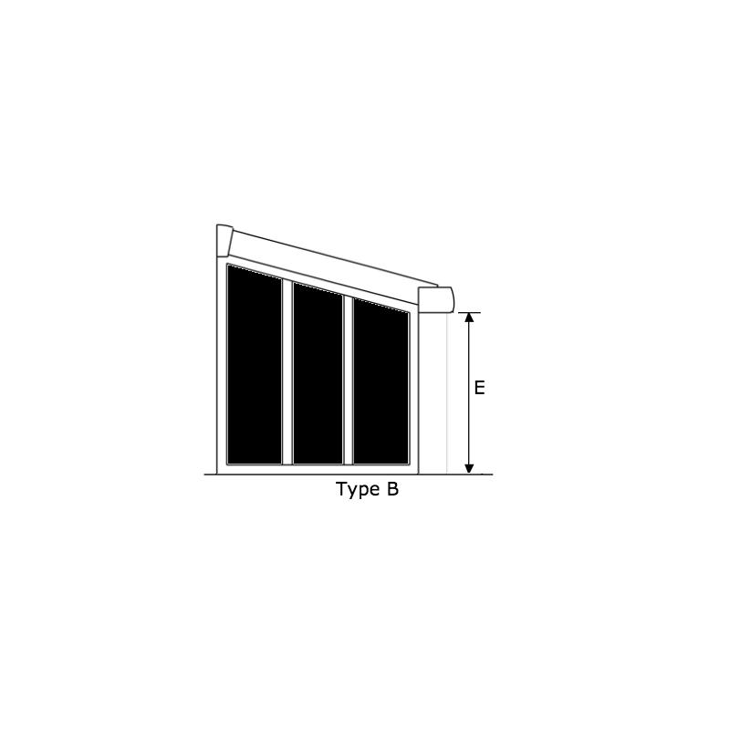 Paroi latérale complète OASIS 4,5m