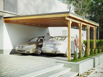 Carport bois Riverside -...