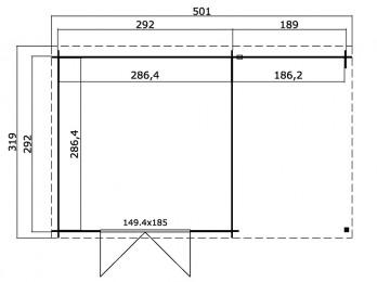 Store tissu pergola 434x400 (4 pces)