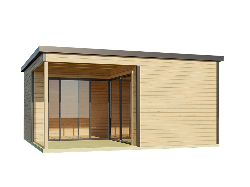 Carport palerme 604 x 510 cm direct abris - Plan d un carport adosse ...