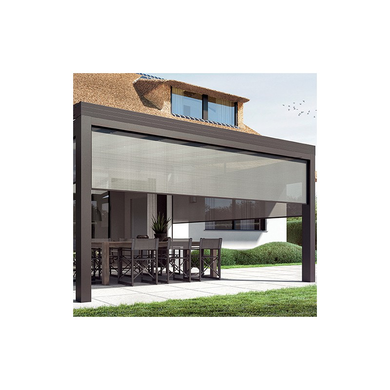 Store de façade Anthracite 333.5 cm + moteur - NEOLIS