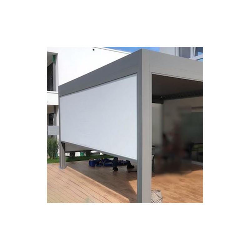 Store de façade Blanc cassé 333.5 cm + moteur - NEOLIS