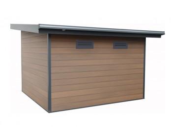 Abri de jardin adossable TRECO 3.7+kit ancrages, abri-de-jardin-en-metal - Direct-abris