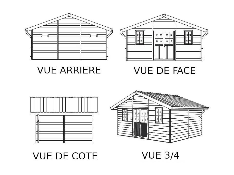 Garage metal treco kit ancrages 18 direct abris for Abri garage metal