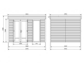 Chalet de jardin ICEBERG 26 m2 - 45 mm, chalet-de-jardin - Direct-abris