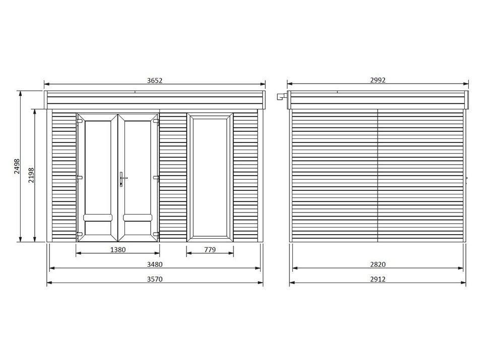Chalet de jardin ICEBERG 26 m2 - 45 mm, Chalet de Jardin - Direct-abris