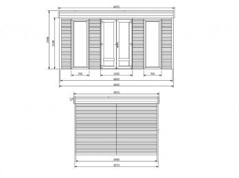 Pergola aluminium NAMELIS profondeur 3.5M - 7x3.5m