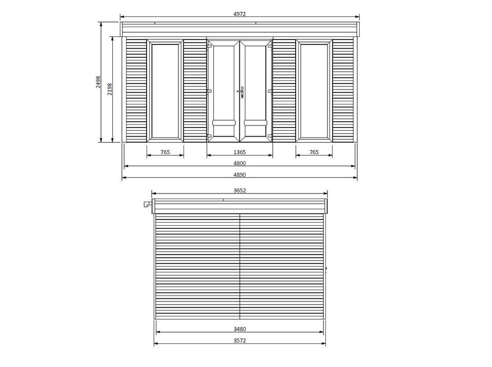 Pergola aluminium NAMELIS profondeur 3.5M - 7x3.5m, Pergola aluminium - Direct-abris