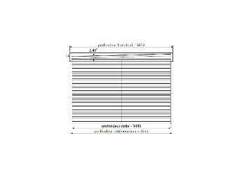 Pergola ALICANTE 434 x 300 - 3 poteaux, pergola-bois - Direct-abris