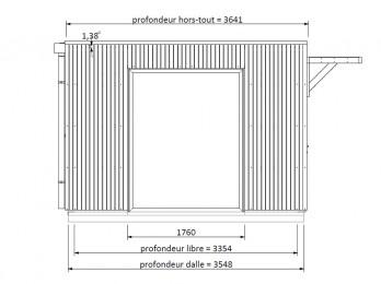 Pergola ALICANTE 434 x 400 - 3 poteaux, pergola-bois - Direct-abris
