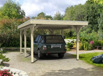 Abri de jardin VENLO 9 - 28 mm avec appenti, abri-de-jardin-en-bois - Direct-abris
