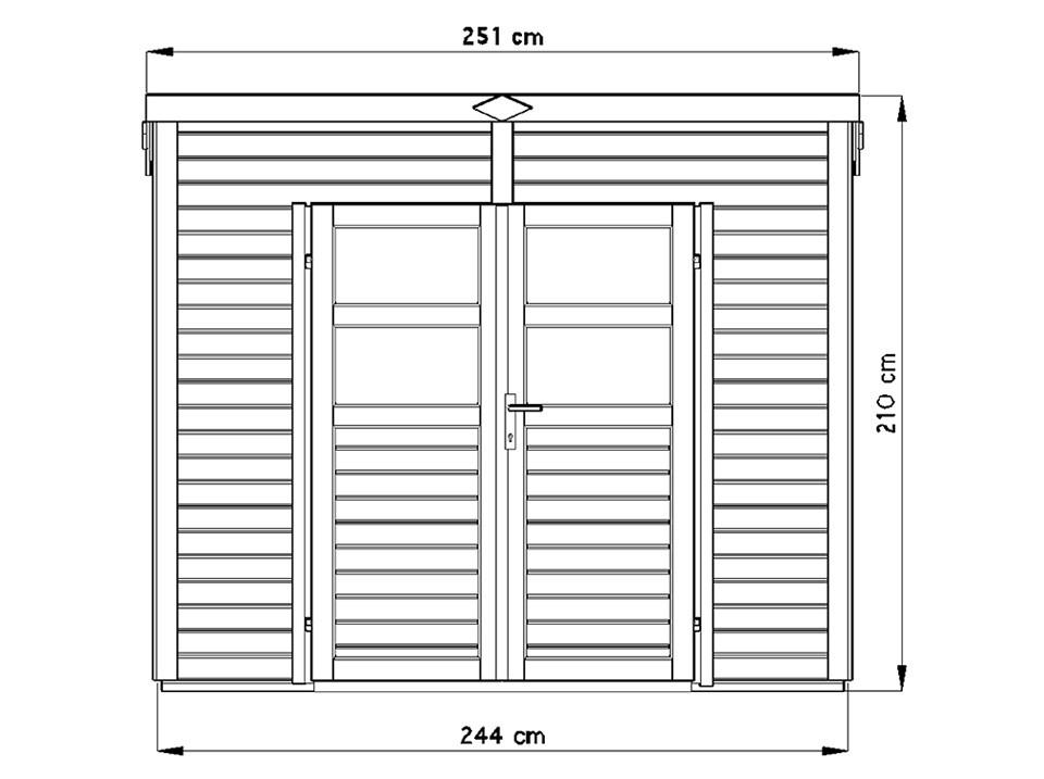 Maison de jardin reus 33 58 mm direct abris for Maison de jardin