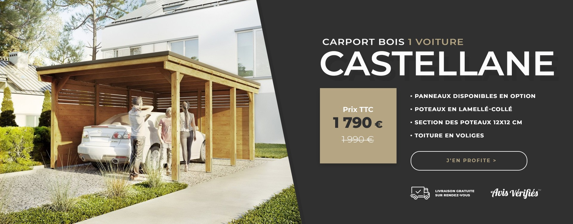 carport bois castellane